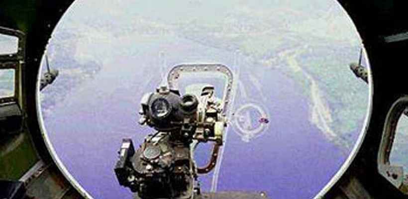 Norden Bombsight viewed from airborn B-17